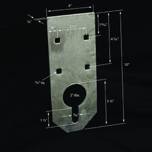 Anchor Plate Keyhole #6013A