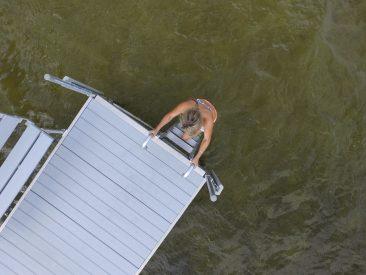 Dock Ladder Aluminum Snap On
