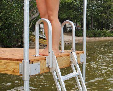 Dock Ladder on a Wood Dock