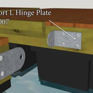 Short L Hinge Plate #6007