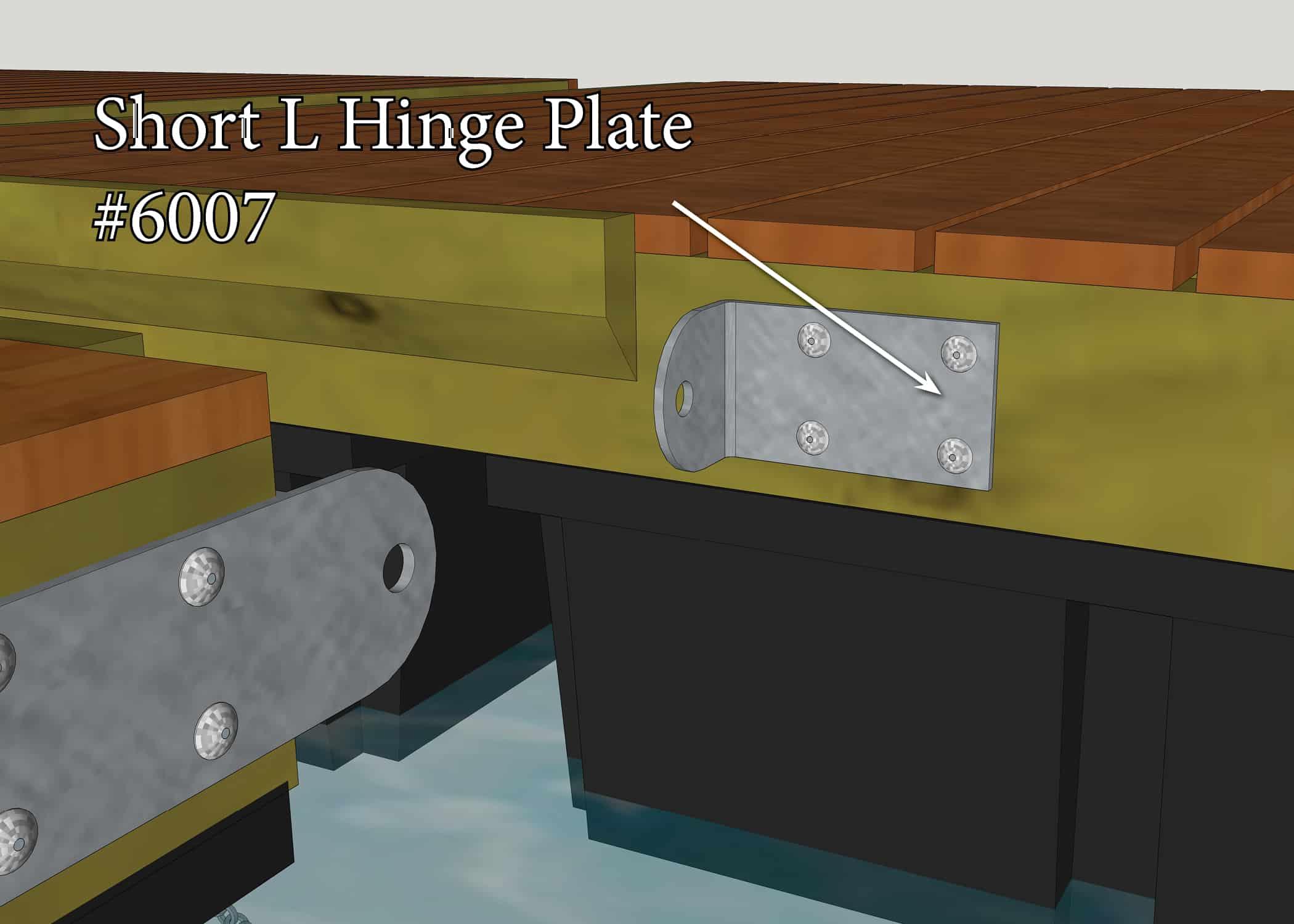 Hinged Dock Plates : Short l hinge plate great northern docks